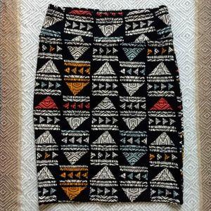 LuLaRoe Cassie pencil skirt - rare print